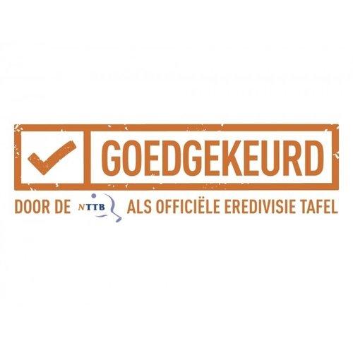 Deze Heemskerk tafeltennistafel Novi 2000 transport is goedgekeurd door de NTTB (Nederlandse TafelTennis Bond) en dus gekwalificeerd als officiële wedstrijdtafel.