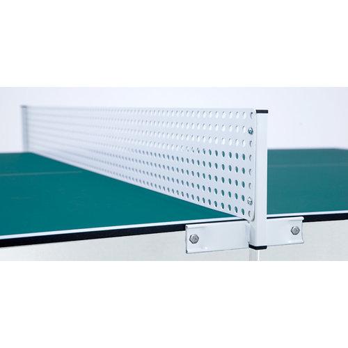 Heemskerk De tafeltennistafel Alpha is een buiten tafeltennistafel voor permanente uitstalling en dient ten alle tijden op een vlakke ondergrond geplaatst te worden.