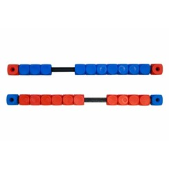 Scoreteller Blauw/Rood