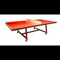 Deze verrijdbare tafeltennistafel is uitermate geschikt om te gebruiken tijdens een actieve vergadering.