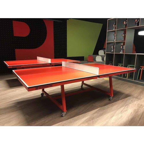Heemskerk Deze verrijdbare tafeltennistafel is uitermate geschikt om te gebruiken tijdens een actieve vergadering.