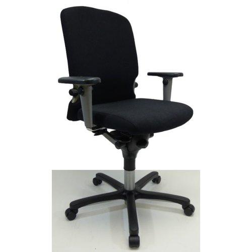 Bureaustoel Comforto 77 zwart nieuwe stof hogere zithoogte