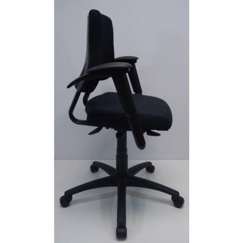 Bureaustoel BMA Axia Office middelhoog zwart nieuwe stof