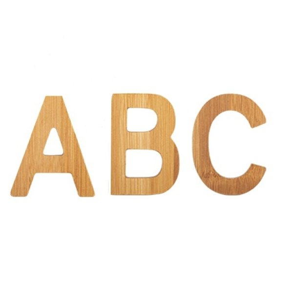 Small foot design Bamboe letters A-Z