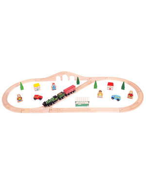 Bigjigs Rail Houten Treinset 'Flying Scotsman'