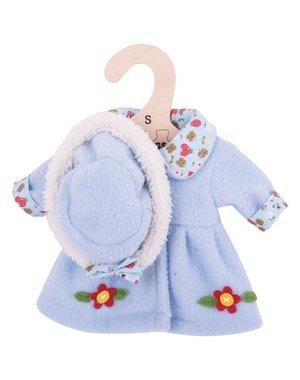 Bigjigs Toys Kleding voor lappenpop 'Blauwe hoed en jas'