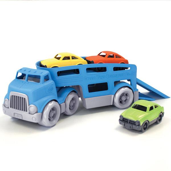 Green Toys Autotransporter met 3 auto's