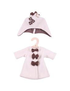 Bigjigs Toys Kleding voor lappenpop 'Beige fleecejas met hoed' (Large)
