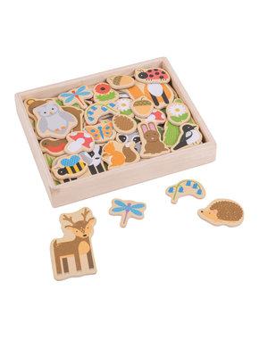 Bigjigs Toys Houten Magneten 'Bos'