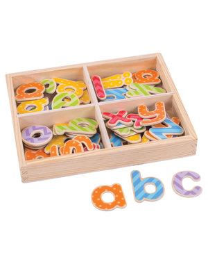 Bigjigs Toys Houten Magneten 'Kleine Letters'