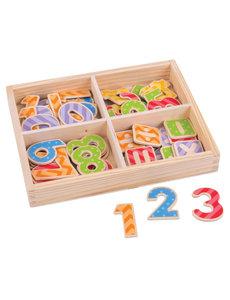 Bigjigs Toys Houten Magneten 'Cijfers en Rekensymbolen'