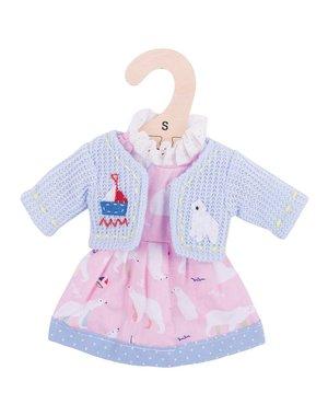 Bigjigs Toys Kleding voor lappenpop 'Roze jurk ijsbeer'