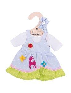 Bigjigs Toys Kleding voor lappenpop 'Blauwe jurk hertje'