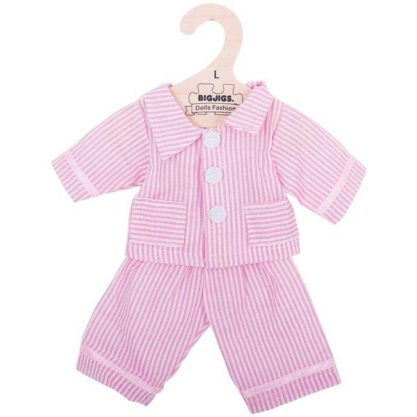 Bigjigs Toys Kleding voor lappenpop 'Roze pyjama'