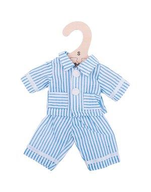 Bigjigs Toys Kleding voor lappenpop 'Blauwe pyjama' (Small)