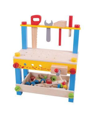 Bigjigs Toys 'Mijn eerste houten werkbank'