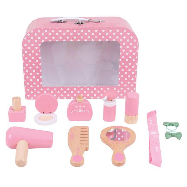 Bigjigs Toys Houten Schoonheidsset in Koffer