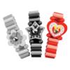 Houten Speelgoed Horloge: 'Roze/Rood'