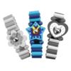Houten Speelgoed Horloge: 'Blauw'