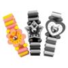 Houten Speelgoed Horloge: 'Roze/Geel'