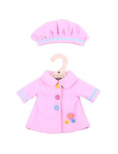Bigjigs Toys Kleding voor lappenpop 'Roze hoed en jas' (Medium)