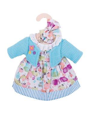 Bigjigs Toys Kleding voor lappenpop 'Turquoise vest en jurk' (Medium)