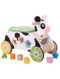 Bigjigs Toys Loopwagen 'Koe'