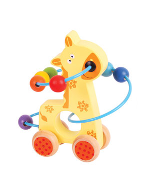 Bigjigs Baby Duwfiguur met Kralenframe 'Giraf'