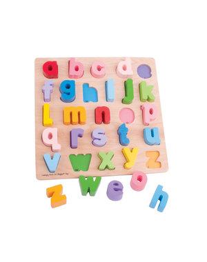 Bigjigs Baby Houten abc Puzzel 'Kleine Letters'