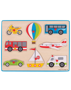Bigjigs Toys Houten Legpuzzel 'Transport'
