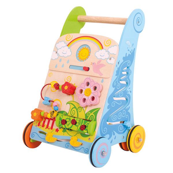 Bigjigs Baby Activiteiten Loopwagen 'Bloemen'