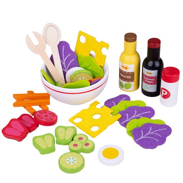 Bigjigs Toys Houten Salade Set
