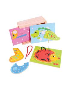Bigjigs Toys Box met Rijgpuzzels 'Dieren'