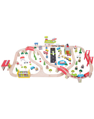 Bigjigs Rail Houten Treinset 'Transport'