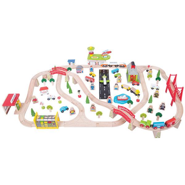 Bigjigs Rail Houten Treinset 'Transport'
