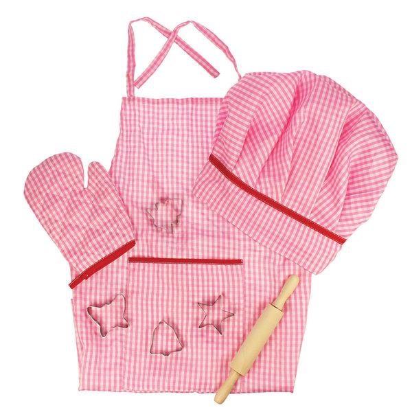 Bigjigs Toys Kokskleding voor kinderen 'Roze'