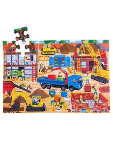 Bigjigs Toys Houten vloerpuzzel 'Bouwplaats' (48st.)