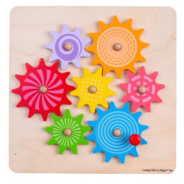 Bigjigs Toys Houten Puzzel 'Draaiende Tandwielen'