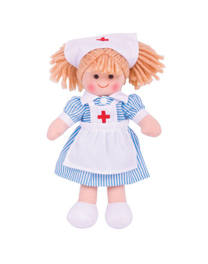 Bigjigs Toys Lappenpop 'Zuster Nancy' (Small)