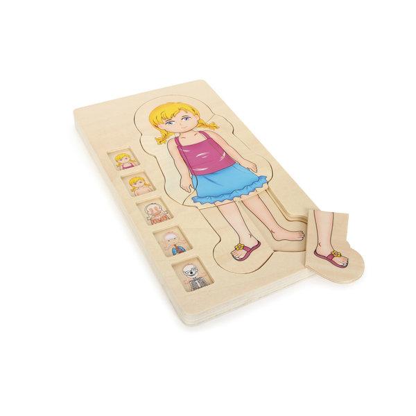 Small Foot Laagjes Puzzel 'Anatomie Meisje'