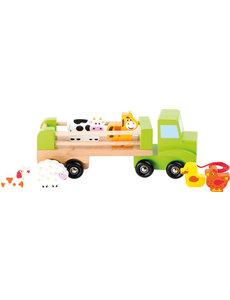 Small Foot Houten vrachtwagen met dieren