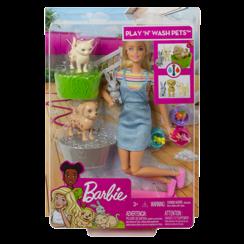 Barbie Speelset met hondje, poesje en konijntje