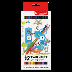 Kids twin point kleurpotloden set 12