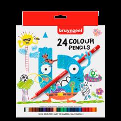 Kids kleurpotloden set 24