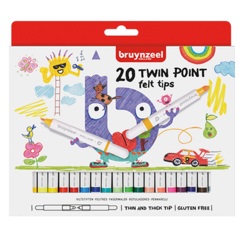 Kids twin point viltstiften set 20