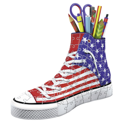 3D Sneaker stars and stripes
