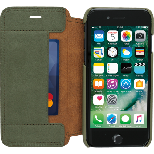 Minim Book Case - Olive Green, Apple iPhone 7/8/SE (2020)