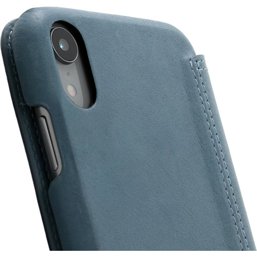 Minim Book Case - Light Blue, Apple iPhone XR
