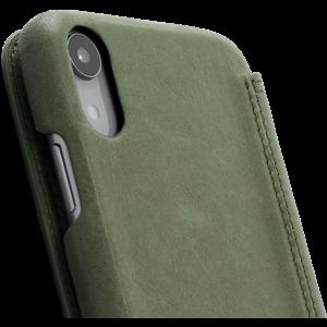 Minim Book Case - Olive Green, Apple iPhone XR