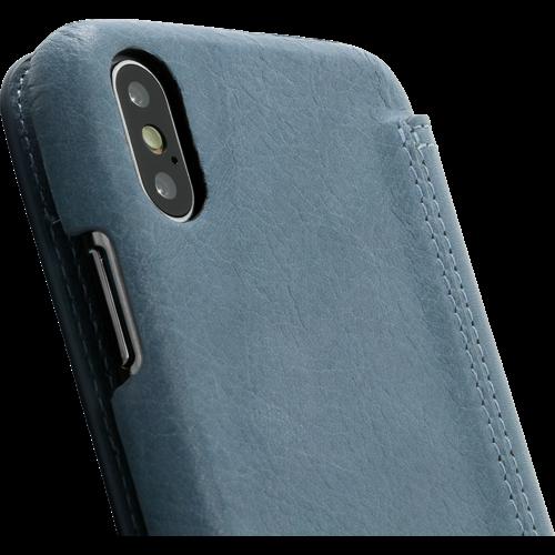 Minim Book Case - Light Blue, Apple iPhone X/XS